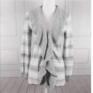White House Black Market silver stripe sweater